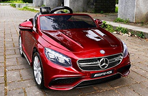 mercedes S63 AMG enfant rouge
