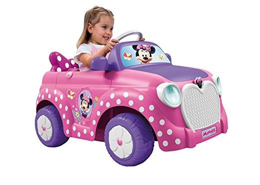 voiture électrique rose minnie