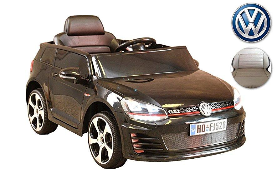 voiture éléctrique Volkswagen noire pour enfant
